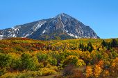 Scenic view of Beckwith mountain  at Kebler pass poster