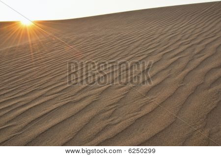 Sand Dune With Flare