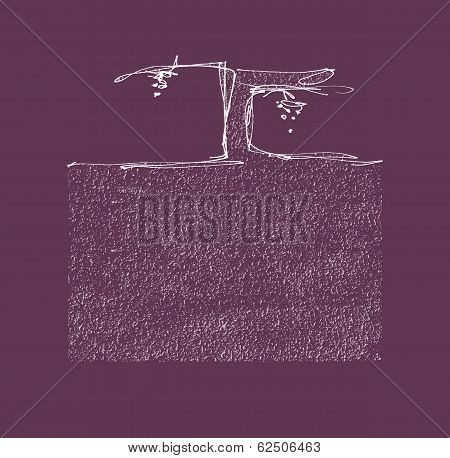 Grapevine And Soil Hand Drawn Vector Illustration