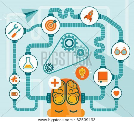idea generator, modern vector illustration