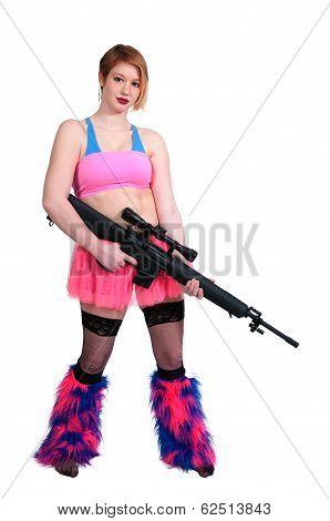 Woman Rave Rifle Girl