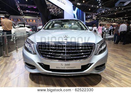 Nonthaburi - March 25: Mercedes Benz S300 Bluetec Hybrid Car On Display At The 35Th Bangkok Internat