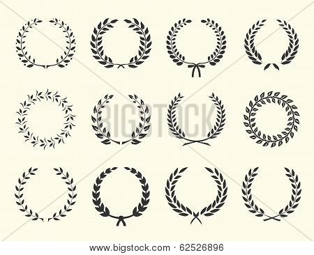 silhouettes of wreaths