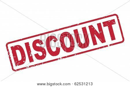 Stamp Discount With Red Text On White