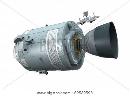 Apollo Command Service Module isolated on white background. 3D render poster