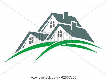 Houses in a green eco environment