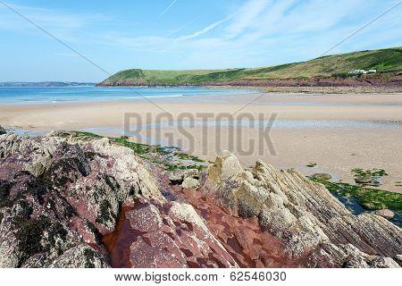 Manorbier Beach, Pembrokeshire, Wales