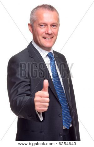 Mature Businessman Thumbs Up.