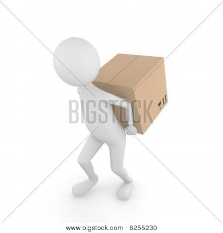 Man carrying box
