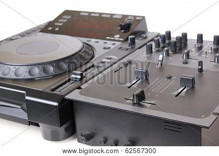 Dj Cd Player And Mixer