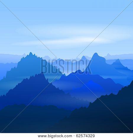 Majestic Blue Mountains