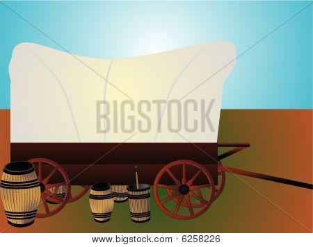 Western wagon train...