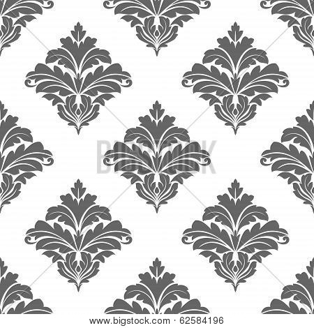 Grey seamless floral pattern