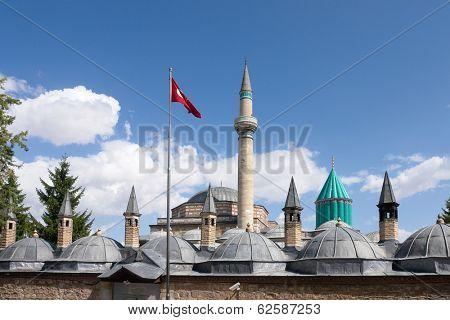 Mevlana museum in Konya Turkey