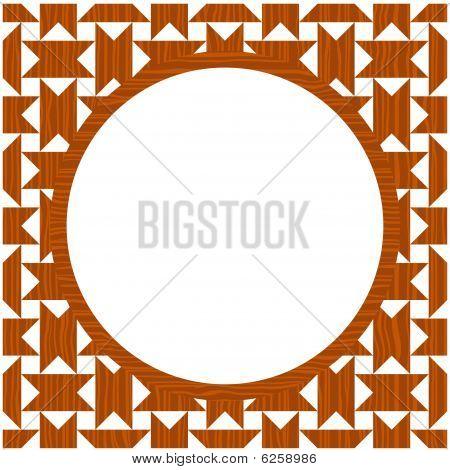 Wood circle frame