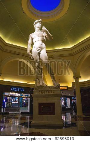 Statue In Caesar's Palace In Las Vegas