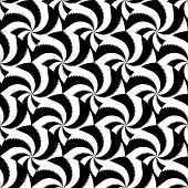 Design seamless monochrome vortex twisting pattern. Abstract decorative strip textured background. Vector art poster