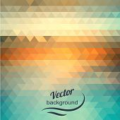 Abstract geometric background of the triangles. Pastel color. The illusion of sea and sky. Place your own text on top of the image poster