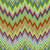 Colored Abstract Retro Striped Background, Fashion Seamless Zigzag Pattern of Multicolored Stripes poster