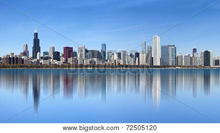 Dramatic Chicago Skyline