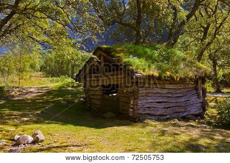 Old House Near Briksdal Glacier - Norway