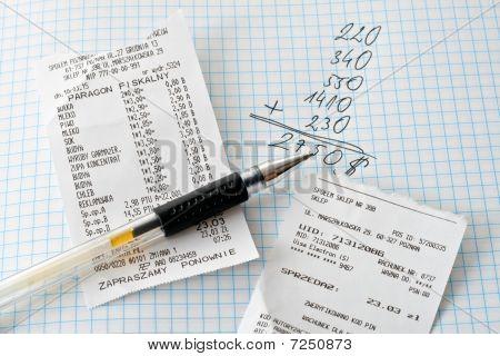 Bills and calculations