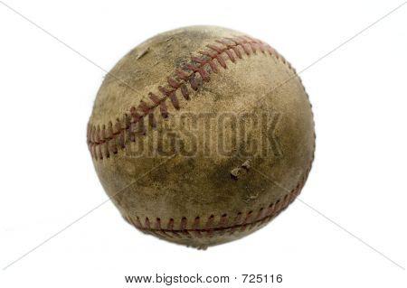Isolated Aged Baseball
