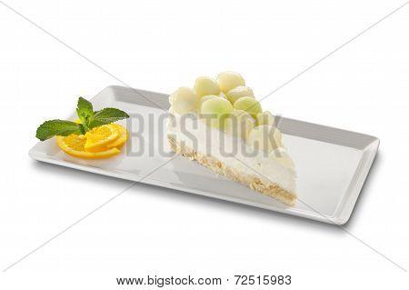 Light Dessert With Mellon Balls