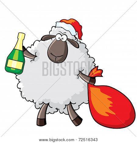 Sheep - Santa.eps