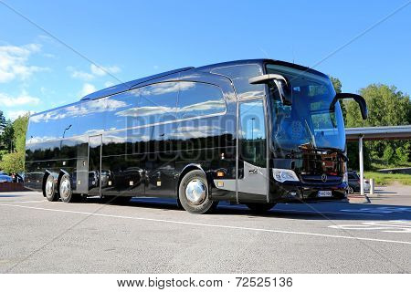 Black Mercedes-benz Travego Coach Bus