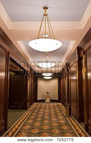 Carpet Runner In Elevator Lobby