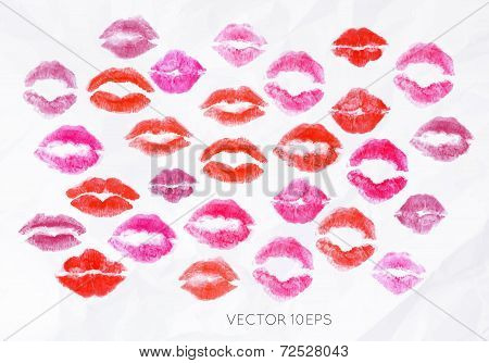 Set lipstick kiss