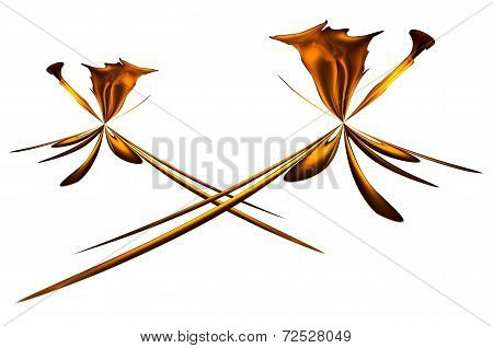 Pattern made of fire on white background poster