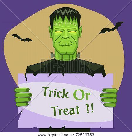 Frankenstein Holding Banner