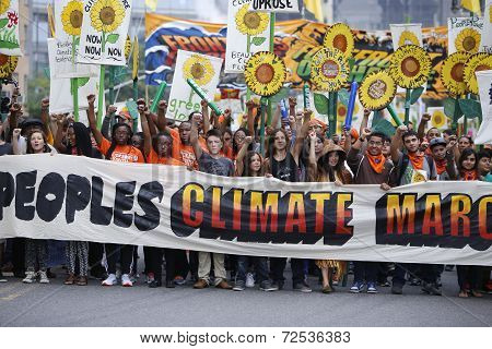 People's Climate March banner