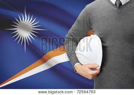 Architect With Flag On Background  - Marshall Islands