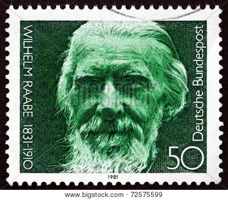 Postage Stamp Germany 1981 Wilhelm Raabe, Novelist And Poet