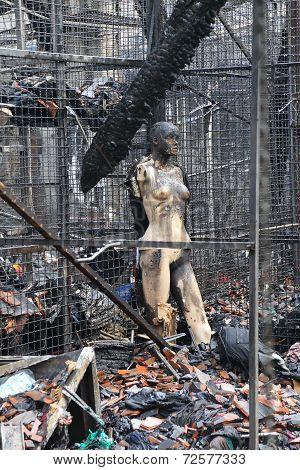 Burned Mannequin