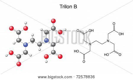 Structural Chemical Formula Of  Trilon B - Edta