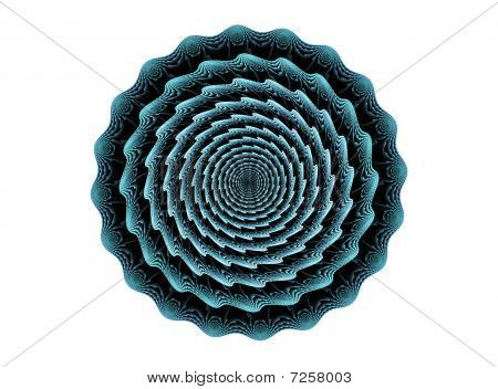 Optical Illusion In Blue