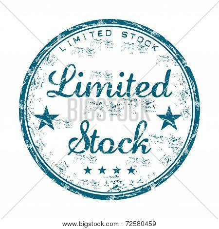 Limited stock grunge rubber stamp