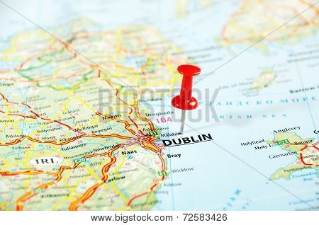 Dublin Ireland  ,united Kingdom  Map
