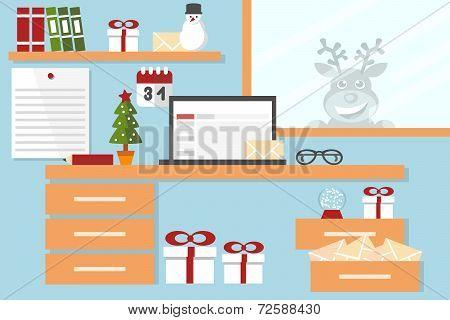 santa claus workstation