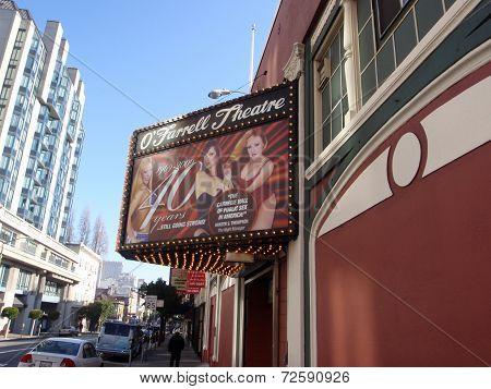 World Famous O'farrell Theatre Sign