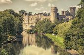 Warwick castle from outside. It is a medieval castle built in 11th century and a major touristic attraction in UK nowadays. poster