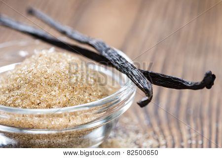 Portion Of Vanilla Sugar (brown)