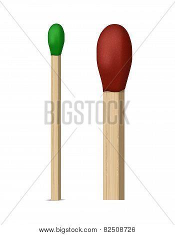 Match. Vector illustration