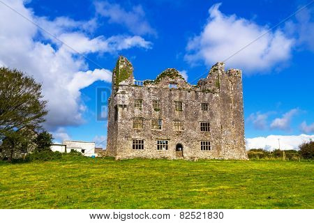 Leamaneh castle in Burren, Co. Clare - Ireland