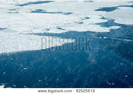 Aerial Of Ice On The Hudson Bay