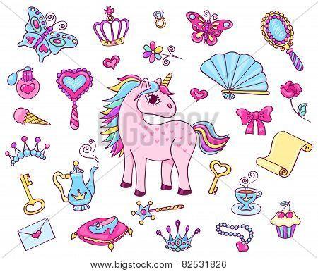 Cute Princess Set With Unicorn